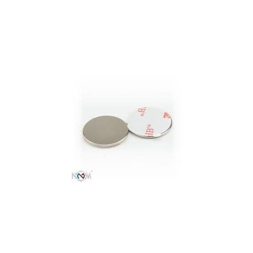 Neodymium öntapadós korong mágnes 20x2 mm N35